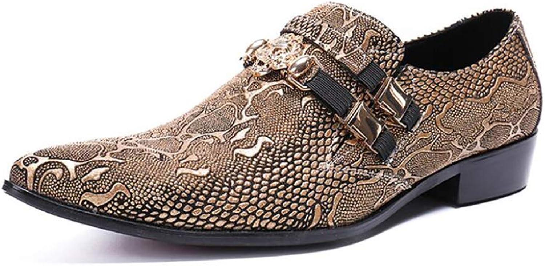 FuweiEncore Herren Business Kleid Schuhe, Frühling Herbst Spitzschuh, Formale Party Party Party Schuhe, Koreanische Version des Trends der Schuhe (Farbe   EIN, Größe   45) (Farbe   On, Größe   42) 617