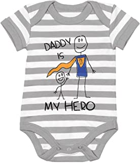 Tstars Daddy is My Hero - Super Dad for Father from Son/Daughter Cute Baby Bodysuit