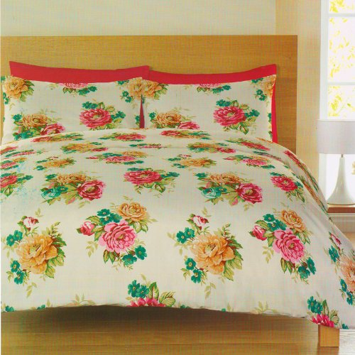 Catherine Lansfield Mia Multi Floral King Size Duvet Quilt Cover Bedding Set