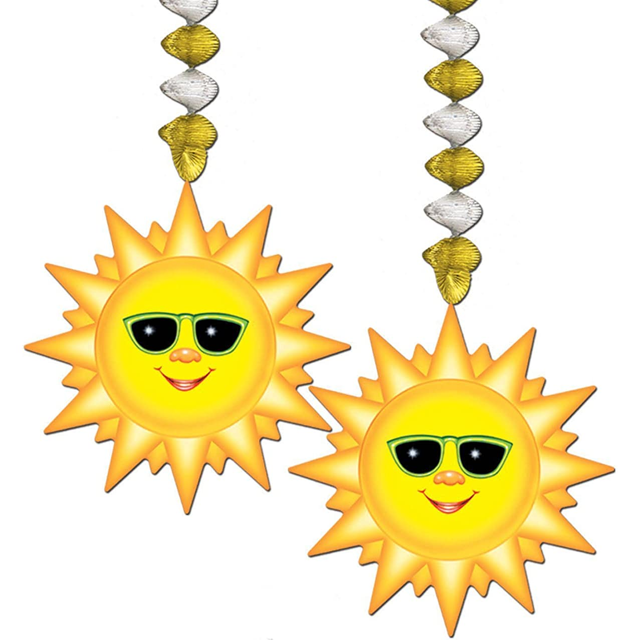 Sunburst Danglers Party Accessory (1 Count) (2/pkg) Pkg/3