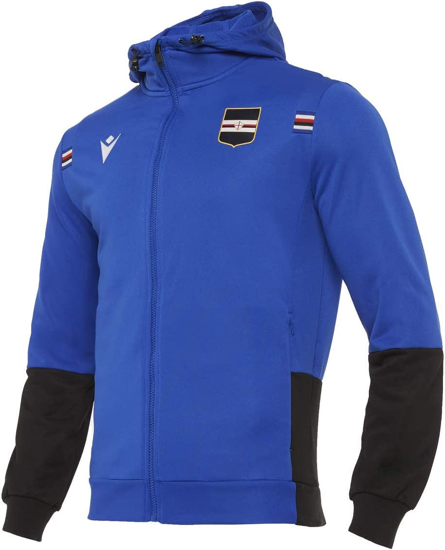 Spasm price Macron 2020-2021 Sampdoria Full Blue Super beauty product restock quality top Top Zip Hooded