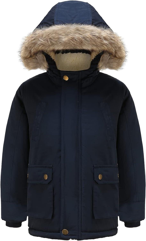DILIBA ラッピング無料 Boy's Winter Warm Padded Puffer Thicken セール特価 Coat Jacket Hoode