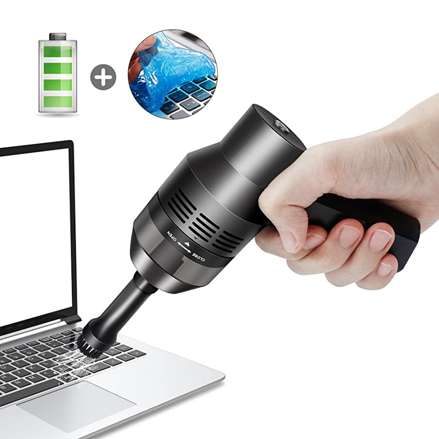 法律残基マージンキーボード掃除 PCキーボード掃除機 卓上クリーナー ハンディクリーナー 充電式 ミニクリーナー掃除機ミニ 集塵装置 掃除 強力吸引 OA掃除機 USB充電式