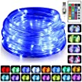 Kosuroum 100 LED Rope Lights 16 Colors Changing 33ft Indoor Lights USB Powered Multi-Color Twinkle Tube Fairy Lights with Remote for Wedding Christmas Halloween Party (33ft Rope Light 1 Pack)