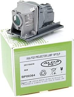 Alda PQ-Premium, Lámpara de proyector compatible con NP13LP, 60002853 para NEC NP110, NP115, NP115G, NP115G3D, NP210, NP210G, NP215, NP215G, NP216, V230X Proyectores, lámpara con carcasa