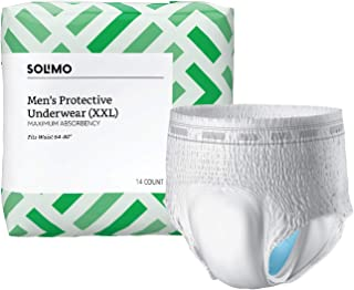 Amazon Brand - Solimo Incontinence Underwear for Men, Maximum Absorbency, XX-Large, 42 count (3 packs of 14)
