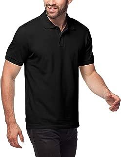 Polo Shirt for Men, 100% Cotton, Piqué Knitted Fabric (no Jersey) Short Sleeve Golf Polo Uniform M19