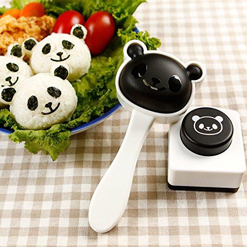 Kicode Bricolage Onigiri Rice Ball ento Accessori Attrezzi da cucina di alghe Easy Sushi Maker di stampo Panda bella