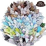 200Pcs 10x10 cm Retales de Tela 100% Algodón Trozos...
