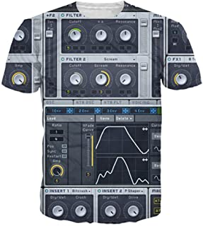 7eaven Shop T-Shirt 3D Ableton Live Bedroom DJs Music Production Software All-Over Tops Tee