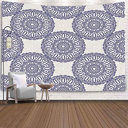 BFNBRLOR - Arazzo da parete, 200 x 150 cm, motivo etnico arabesco, motivo damascato Calico Chintz in stile vintage, per dormitorio e casa