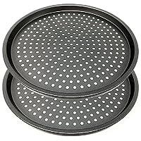 Space Home - Molde para Pizza con Agujeros - Acero al Carbono - Recubrimiento...