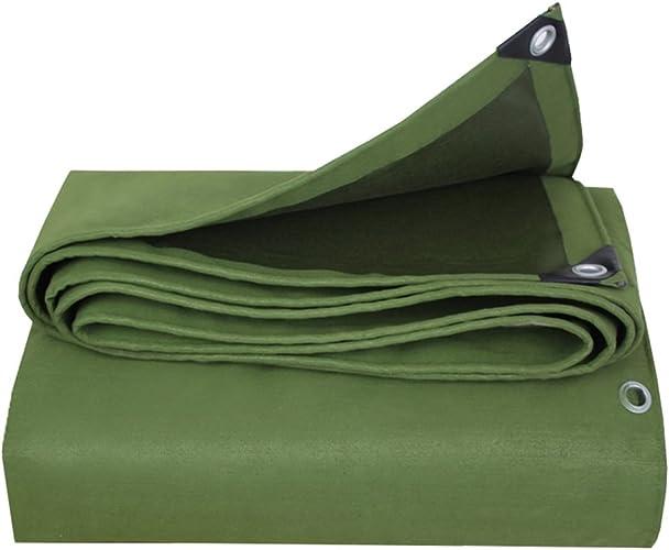 LIYin Feuille de bache résistante imperméable à l'eau de bache de bache - Couverture de qualité de première qualité Faite de bache de bache de 650g   mètre carré Vert