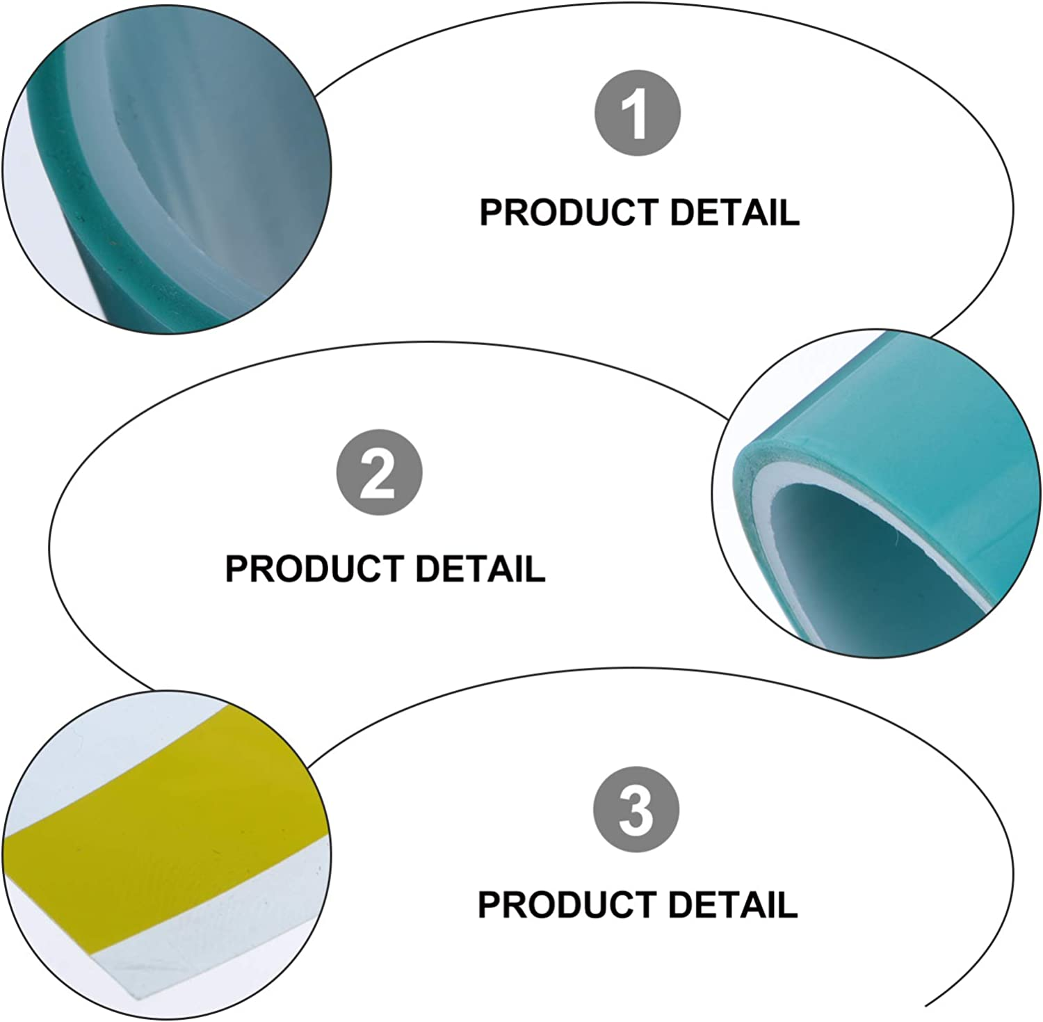 EXCEART 2 Rolls UV Seamless Sticky Paper Tape Craft Tape Traceless Tape Resin Tape for Jewelry,Resin Making Tool Deep Blue