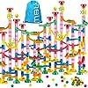 Tebrcon 263個 ビーズコースター 知育玩具 スロープ ルーピング セット 子供 組み立 ブロック DIY 積み木 男の子 女の子 誕生日のプレゼント ビー玉転がし おもちゃ 立体パズル