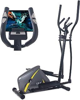 ISE Bicicletta Ellittica Magnetico,Crosstrainer Cardio Fitness Multifunzione, Ergometro Compatibile,8 Livelli di Resistenz...
