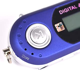 Perfk 8GB USB MP4 MP3 Music Video Player Recording FM Radio EBook Blue