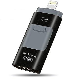 Wkddm 128 GB/256 GB USB Flash Drives para iPhone Jump Drive External Micro USB Memory Storage Pen Drive para iPhone iPad Android 256 GB