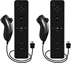 Sponsored Ad - Burcica Remote and Nunchuck Controller for Wii Wii U (Black 2 Pack) photo