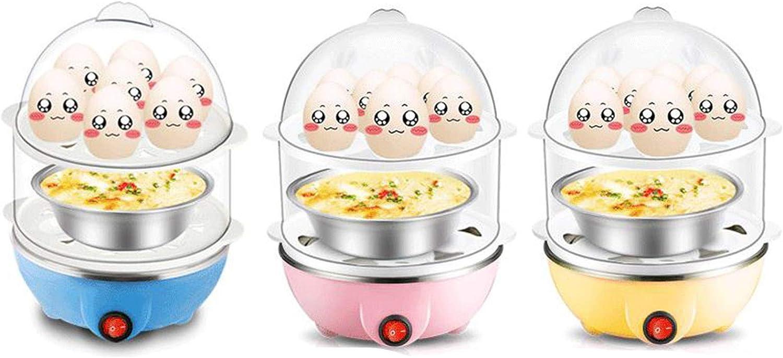 350W Electric Egg Maker AMOLEY Egg Cooker 14 Egg Capacity Egg Cooker with Automatic Shut Off White Egg Steamer Egg Boiler Pink Double Layer