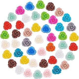 PandaHall Elite 150 Pcs Flores de Resina, Materiales Decorativos, Adecuados para Hacer Bisuterías, 15 Colores