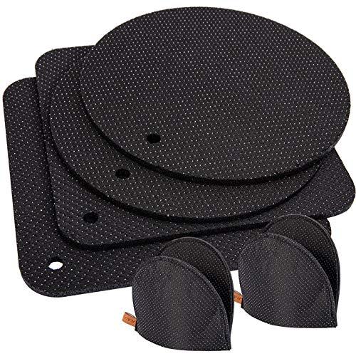 IDEALHOUSE Posavasos de fieltro, 4 salvamanteles para ollas, 2 guantes, soporte de fieltro, guantes de fieltro, soporte para ollas, antideslizante y resistente al calor hasta 250 °C