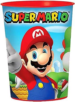 Amscan International - 421554 - Tasses à bonbonnière en plastique Super Mario - 473 ml