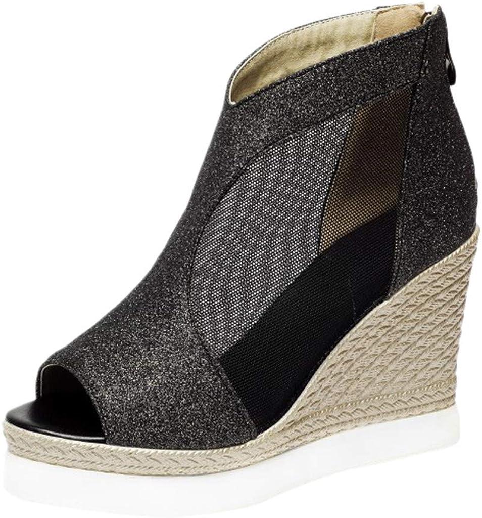 Simayixx Women's Wedges [Alternative dealer] Sandals Peep Heels Toe Pumps Zi Popular popular Platform