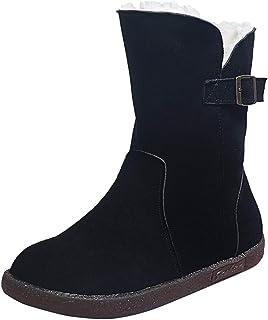 Soolike Zapatos Botas para Mujer Botas de Nieve Elegantes Cortas al Tobillo Invierno Comodos