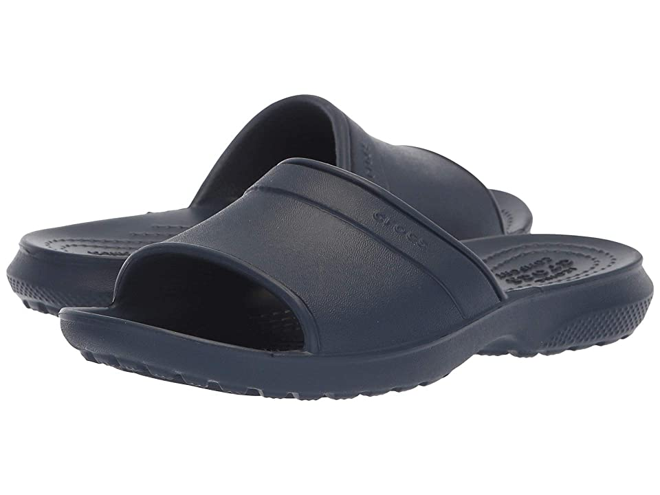 Crocs Kids Classic Slide (Little Kid) (Navy) Boys Shoes