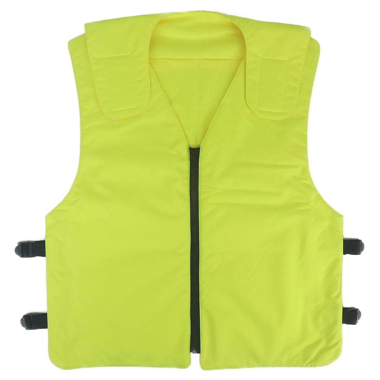 変成器ブラザー統合するGWJP 冷却ベスト クーリングベスト 注水タイプ 保冷材8個付き 空調服インナー フリーサイズ 男女兼用
