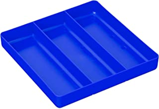 Ernst Manufacturing Organizer Tray, 3-Compartments, Blue