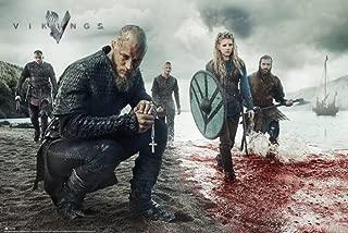 Vikings Blood Landscape Poster 36 x 24in