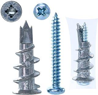 Drywall Screws, Screws and Wall Plugs Set, Plasterboard Fixings & Screws Self Drilling Plasterboard Fixings Raw Plugs Cavi...