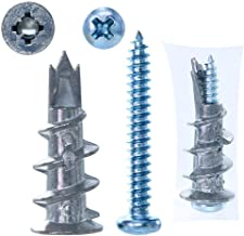 56 PCS Drywall Anchor and Phillips Pan Head Tapping Screws Set