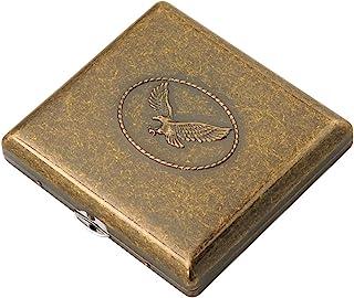 Cig-U Copper Cigarette Case/Box/Holder - Double Sided Flip Open Pocket Tobacco Storage Case - Hold 20 King Sized Cigarette...