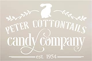 Peter Cottontails Candy Company Stencil with Bunny by StudioR12 | DIY Fun Spring Home Decor | Easter Rabbit Word Art | Pai...