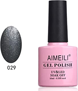 AIMEILI Soak Off UV LED Gel Nail Polish - Shiny Asphalt (029) 10ml