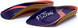 PCSsole 3/4 Length Comfort Orthotic Inserts for Flat Feet,Plantar Fasciitis, Bone Spur,Arch Support for Men and Women-Walking, Running,Sport (L:(Men9-11/Women10-12))