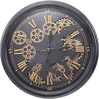 WOERD Horloge Murale à Engrenages Mobiles Style Industriel Steampunk Design RéTro EuropéEn avec Engrenages Industriels Non...