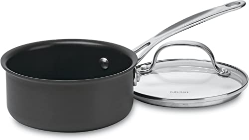 lowest Cuisinart 619-14 Chef's outlet online sale Classic Nonstick Hard-Anodized 1-Quart Saucepan with sale Cover outlet online sale