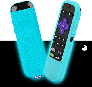 Silicone Protective Soft Cases Compatible with TCL Roku TV Steaming Stick 3600R Remote Control, Honey Comb Series Light We...