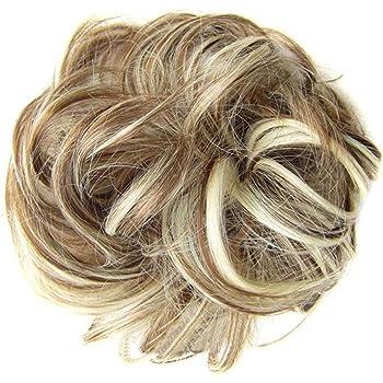 Frcolor Moda Donna Coda di Pony Coda di Capelli Extension Panino Pezzettini Scrunchie Elastico Ondulato Ricci per capelli sintetici (6AH613)