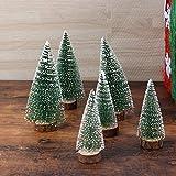 FENICAL Mini Weihnachtsbaum Künstlicher Weihnachtsbaum Christbaum Grün Tannenbaum künstliche Tanne 6pcs - 3