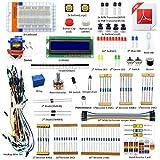 Adeept Project 1602 LCD Starter Kit compatible con Arduino IDE Mega2560 Nano Servo Relay LCD1602, Arduino Starter Kit con PDF Guidebook y código