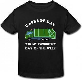 Waldeal I Love Trash Garbage Toddler Boys Girls T Shirt Garbage Truck Lover Gift
