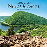New Jersey Wild & Scenic 2021 7 x 7 Inch Monthly Mini Wall Calendar, USA United States of America Northeast State Nature