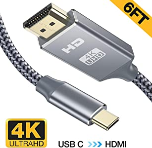 USB HDMI Cable 4K 60Hz Snowkids Type HDMI Cable Thunderbolt Compatible...