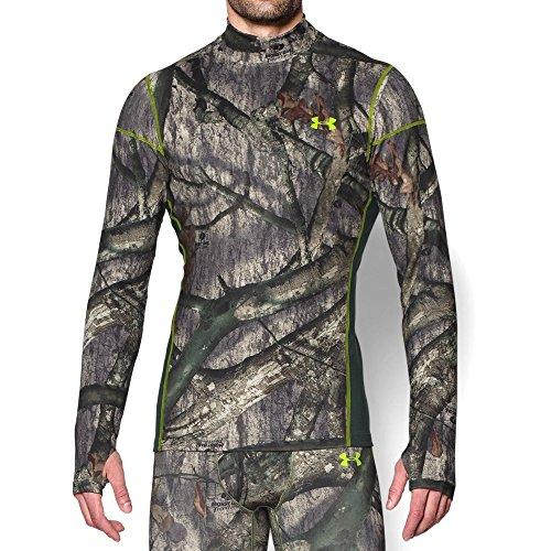 Under Armour Coldgear Infrared Scent Control Tevo Mock - Mens Mossy Oak Treestand / Velocity Medium