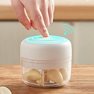 Garlic Chopper Electric Mini USB Portable, Food Processor, Garlic Press Mincer, Grinder for Meat Vegetable, BPA Free (0.6c...